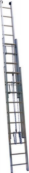 АЛЮМЕТ (ALUMET) Лестница выдвижная трехсекционная АЛЮМЕТ 3314 3х14 с тросом
