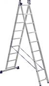 АЛЮМЕТ (ALUMET) Лестница-стремянка двухсекционная АЛЮМЕТ 5209 2х 9