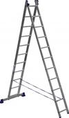 АЛЮМЕТ (ALUMET) Лестница-стремянка двухсекционная АЛЮМЕТ 5211 2х11