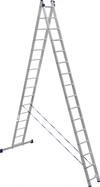 АЛЮМЕТ (ALUMET) Лестница-стремянка двухсекционная АЛЮМЕТ 6216 2х16