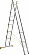 АЛЮМЕТ (ALUMET) Лестница-стремянка двухсекционная АЛЮМЕТ 9212 2х12