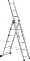 АЛЮМЕТ (ALUMET) Лестница-стремянка трехсекционная АЛЮМЕТ 5306 3х 6