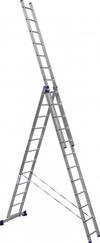АЛЮМЕТ (ALUMET) Лестница-стремянка трехсекционная АЛЮМЕТ 5312 3х12