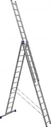 АЛЮМЕТ (ALUMET) Лестница-стремянка трехсекционная АЛЮМЕТ 6314 3х14
