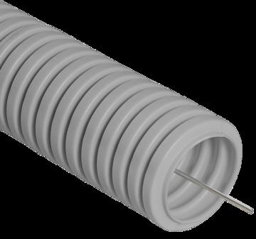 Труба гофрированная Ecoplast 10116 Труба гибкая гофрированная 16 мм из самозатухающего ПВХ-пластиката, лёгкая со стальной протяжкой