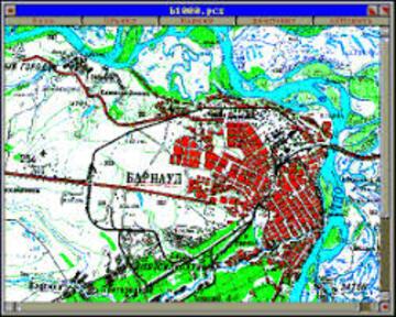 Программное обеспечение Электронная карта М1:10000 (регион)