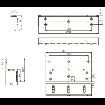 Уголок монтажный Z-образный Dorma L+Z для EMC 600 ALH (19860524)