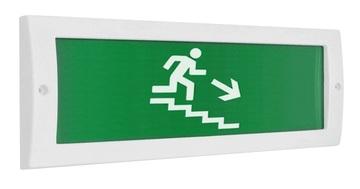 Оповещатель охранно-пожарный (табло) Молния-12 Человек по лестнице вправо вниз