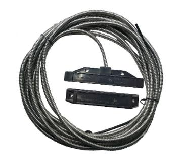 Магнито-Контакт ДПМ-1Ех исп.04 НР геркон, 15м*×ПВС 2×0.75 (металлорукав РЗН - материал нержавеющая сталь)