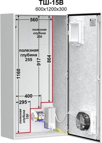 Шкаф уличный всепогодный ТШ-15В