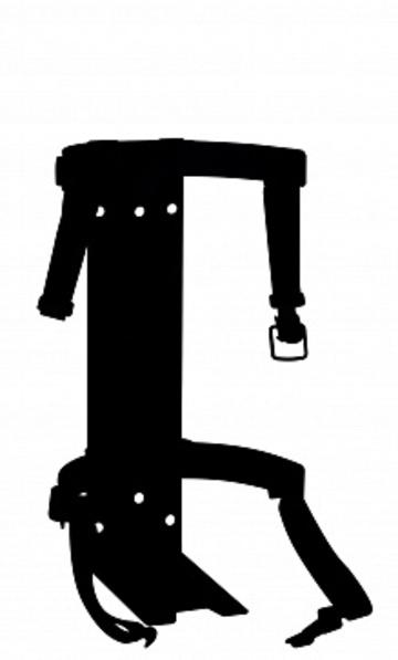 Кронштейн транспортный для огнетушителя КТР-8/9 МИГ (для ОП-8, ОП-9, ОВП-8, ОХ-6, ОВЭ-9)
