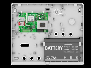 Прибор приёмно-контрольный Контакт GSM-9A в корпусе под АКБ 7Ач под внешнюю антенну