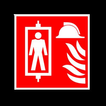 Знак безопасности Знак К41 Лифт для пожарных (Пленка ФЭС-24 200х200 мм)