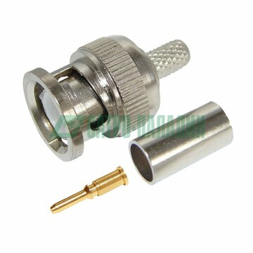 Коннектор Разъем штекер BNC RG-59 обжим REXANT (05-3002)