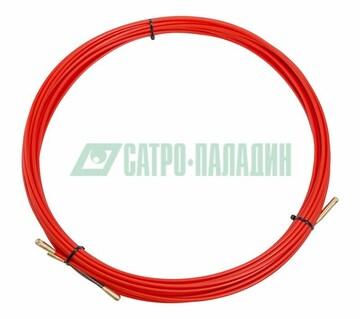 Протяжка Протяжка кабельная (мини УЗК в бухте), стеклопруток, d=3,5мм, 15м КРАСНАЯ (47-1015)