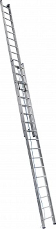 Лестница Лестница выдвижная двухсекционная АЛЮМЕТ 3217 2х17 с тросом