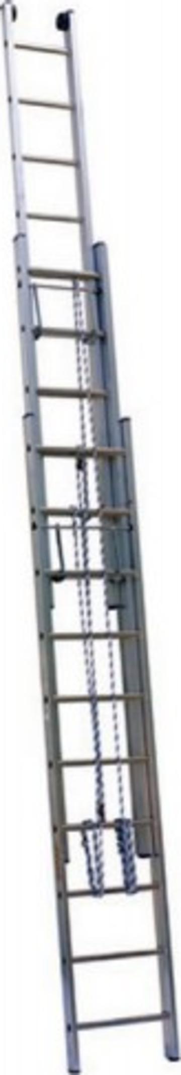 Лестница Лестница выдвижная трехсекционная АЛЮМЕТ 3314 3х14 с тросом