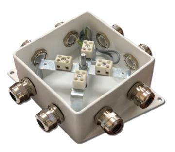 Коробка монтажная КМ-О (8к)-IP66-120х120, четыре ввода