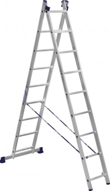 Лестница Лестница-стремянка двухсекционная АЛЮМЕТ 5209 2х 9