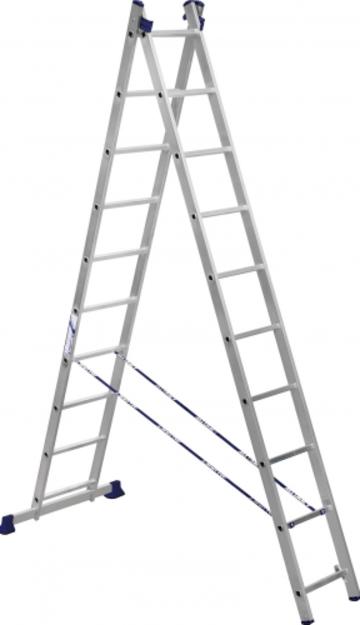Лестница Лестница-стремянка двухсекционная АЛЮМЕТ 5210 2х10