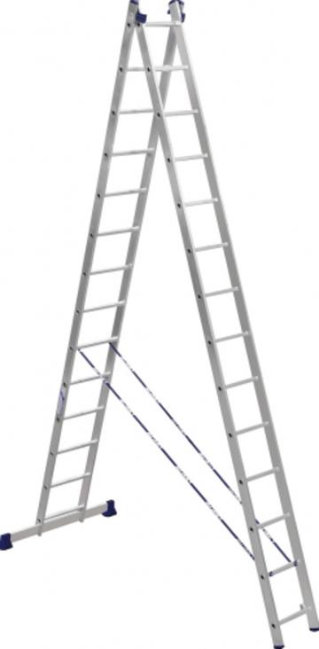 Лестница Лестница-стремянка двухсекционная АЛЮМЕТ 5214 2х14
