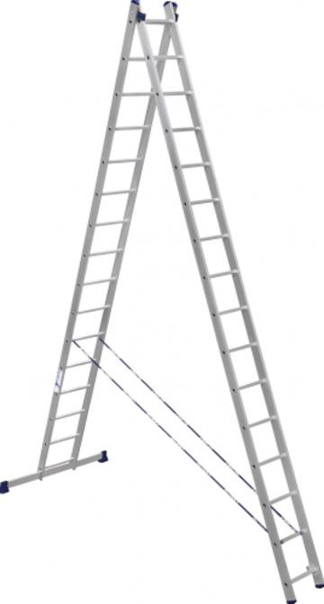 Лестница Лестница-стремянка двухсекционная АЛЮМЕТ 6216 2х16