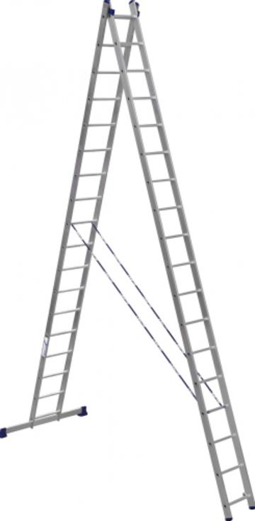 Лестница Лестница-стремянка двухсекционная АЛЮМЕТ 6218 2х18