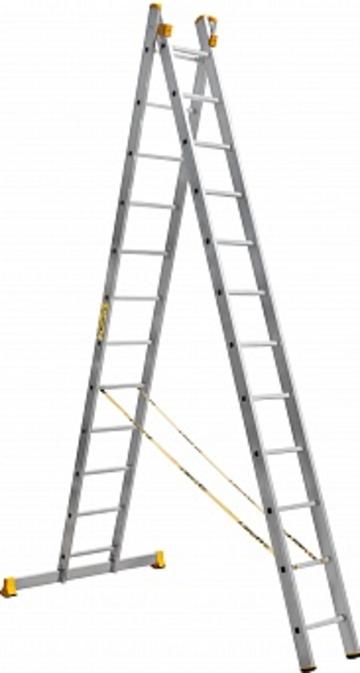 Лестница Лестница-стремянка двухсекционная АЛЮМЕТ 9212 2х12