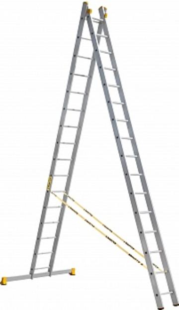 Лестница Лестница-стремянка двухсекционная АЛЮМЕТ 9216 2х16