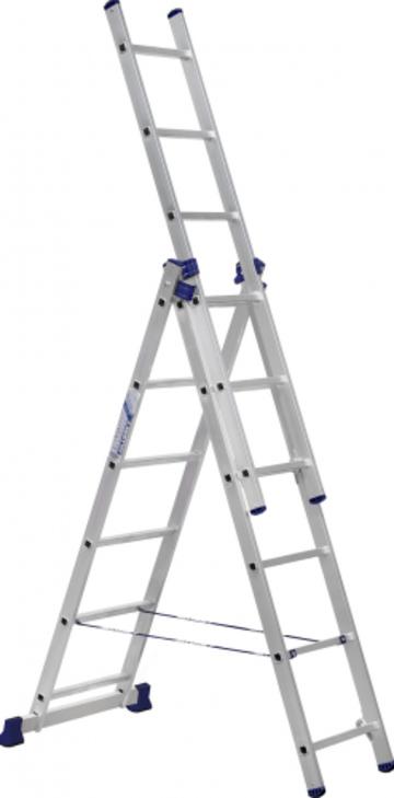 Лестница Лестница-стремянка трехсекционная АЛЮМЕТ 5306 3х 6