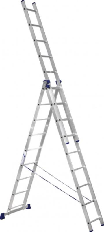 Лестница Лестница-стремянка трехсекционная АЛЮМЕТ 5309 3х 9