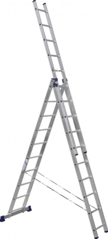 Лестница Лестница-стремянка трехсекционная АЛЮМЕТ 5310 3х10