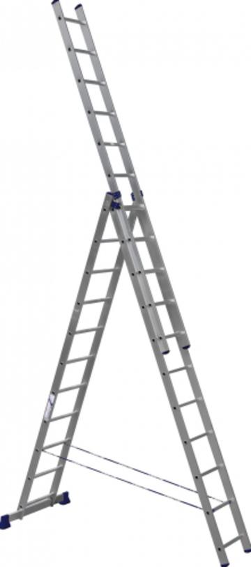 Лестница Лестница-стремянка трехсекционная АЛЮМЕТ 5311 3х11