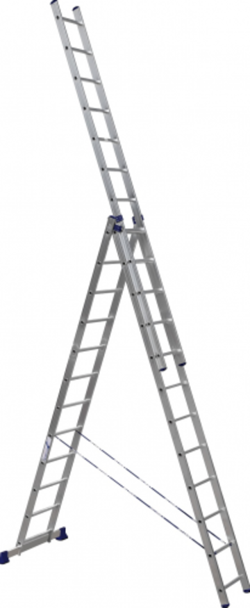 Лестница Лестница-стремянка трехсекционная АЛЮМЕТ 5312 3х12