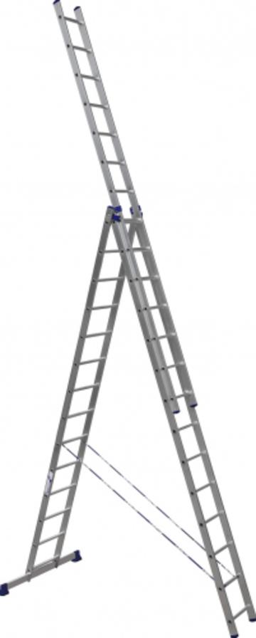 Лестница Лестница-стремянка трехсекционная АЛЮМЕТ 6314 3х14