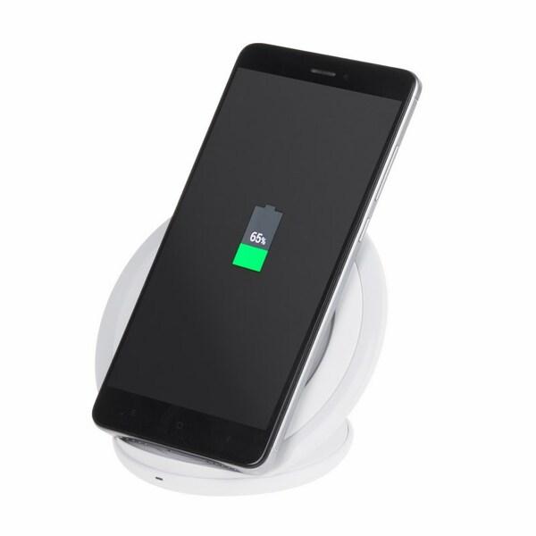 Noname Беспроводное зарядное устройство вертикальное «Fast Charge» белое (18-2203-4)