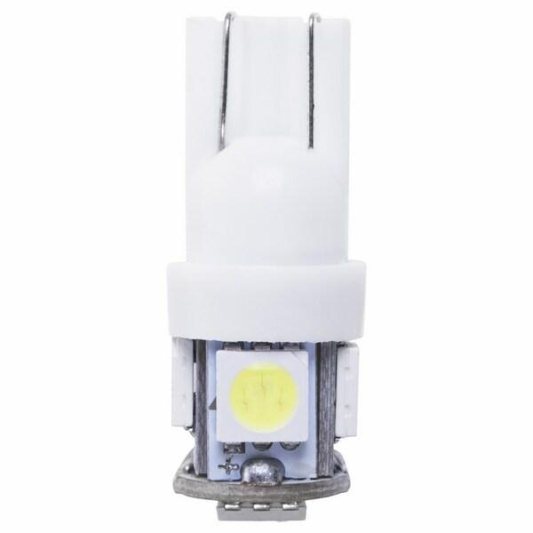 Noname Лампочка Т10 пластиковая (5 светодиодов) (80-1350-9) кратно 10 шт
