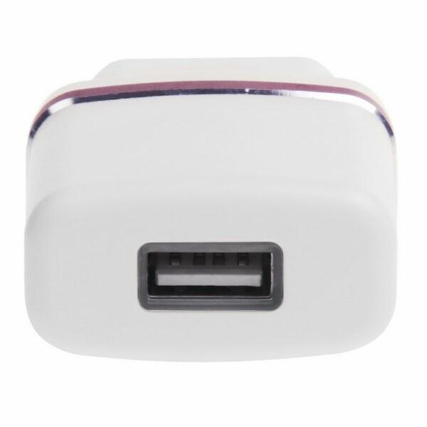 Rexant Сетевое зарядное устройство USB (СЗУ) (5V, 1000 mA) белое с красной полоской REXANT (18-2211)